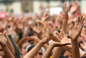 hands waving in rhythm