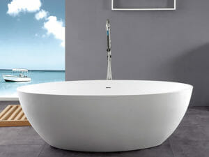 wholesale expo stone resin freestanding tubs Isla bathtub