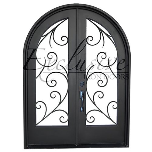 Pauline double round exclusive iron door