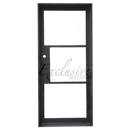 Riva single square exclusive iron door