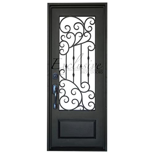 Roxane single square exclusive iron door
