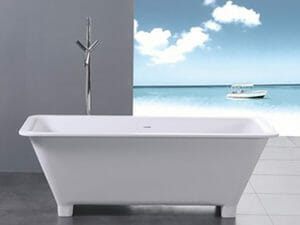 wholesale expo stone resin freestanding tub Castillo bathtub