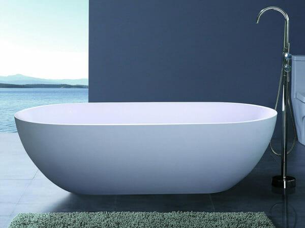 wholesale expo stone resin freestanding tubs luna bathtub