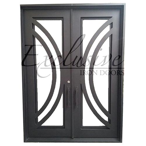 nicole double square exclusive iron door