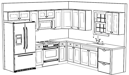 Wholesale Expo custom cabinet 10x10 kitchen